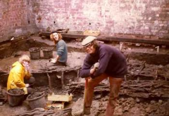 At Durham Saddler st excavations  1974