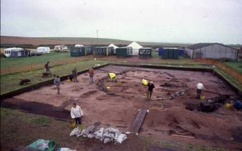 Portmahomack; excavating Structure 1 in 2002