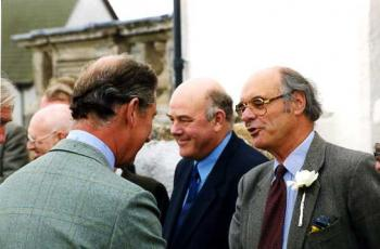Portmahomack; with Prince Charles
